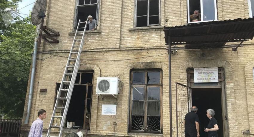 Офис ассоциации инвалидов Отечественной войны сгорел в Гудауте