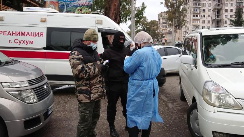 В Сухуме введены дополнительные посты ГАИ и медицинских служб